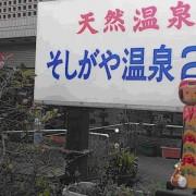 太鼓を担いだ弥治郎系こけしとそしがや温泉の写真