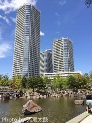 二子玉川ライズのマンションと公園